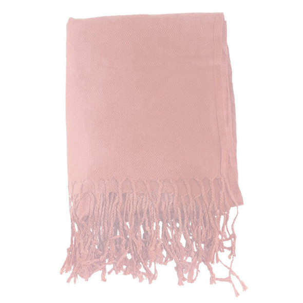 Peach Pashmina Shawl 100% Fine Wool Mix 12 PACK 2121