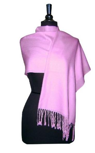 Light Purple Pashmina Shawl  12 PACK 100% Fine Wool Mix 2123