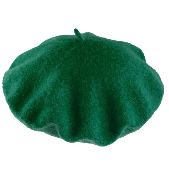 "Green Wool Beret 22.5"" Standard Adult Size 1360"