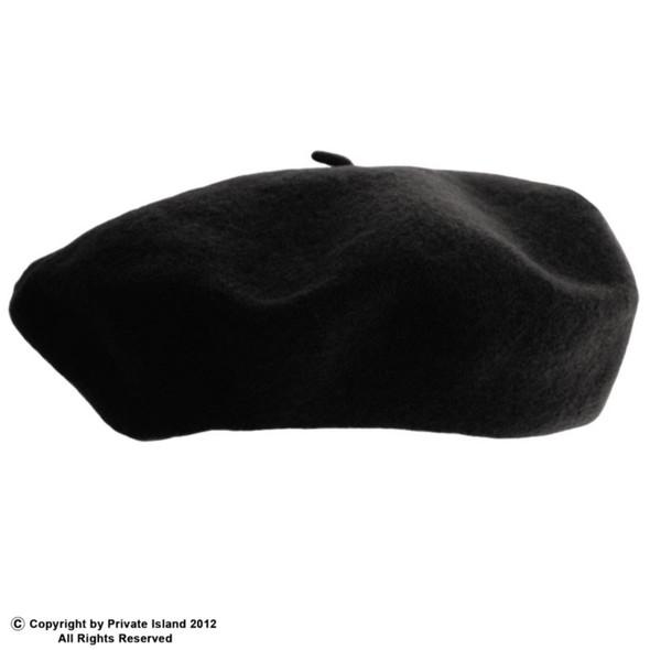 "Black Beret Wool 22.5"" 1361"