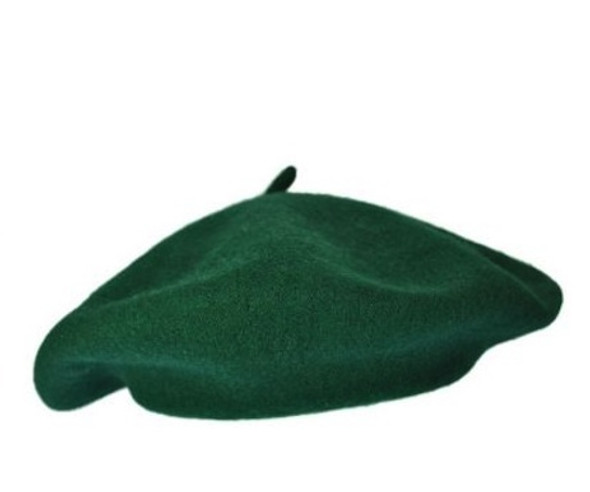 """Military Wool Beret Green 22.5"""" Standard Adult Size 1364"""