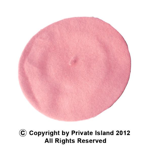 "Pink Beret Wool 22.5"" Standard Adult Size  1368"