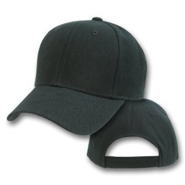 Bulk Dad Hats |  Wholesale Baseball Caps |  Black Dad Hats | 1380