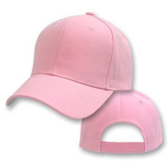 Light Pink Adjustable Baseball Cap 1389
