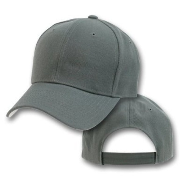 Dark Grey Adjustable Baseball Dad Cap 1393