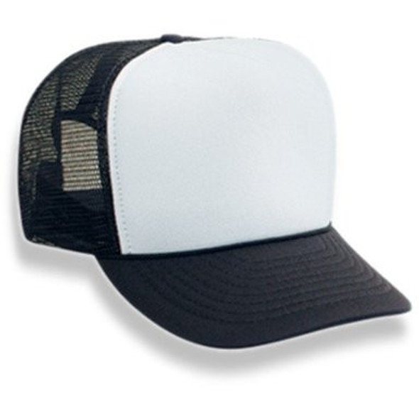 Black Trucker Caps | White Front 12 PACK 1457