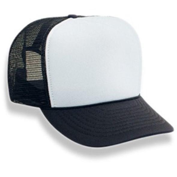 Black Trucker Caps | White Front 12 PACK 1457