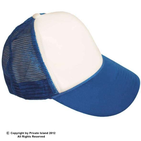 Blue Trucker Caps   Royal w/ White Front  12 PACK 1458