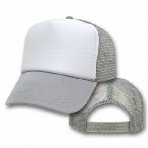 Gray Trucker Caps |  White Front 1468