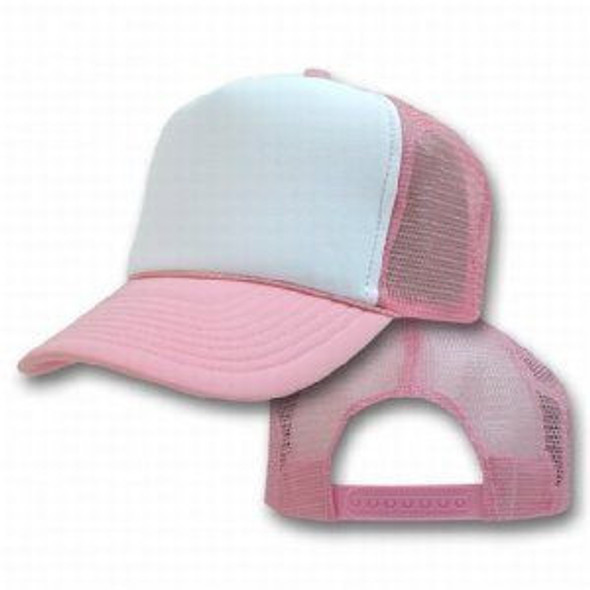 Pink Trucker Caps |  White Front 12 PACK 1468