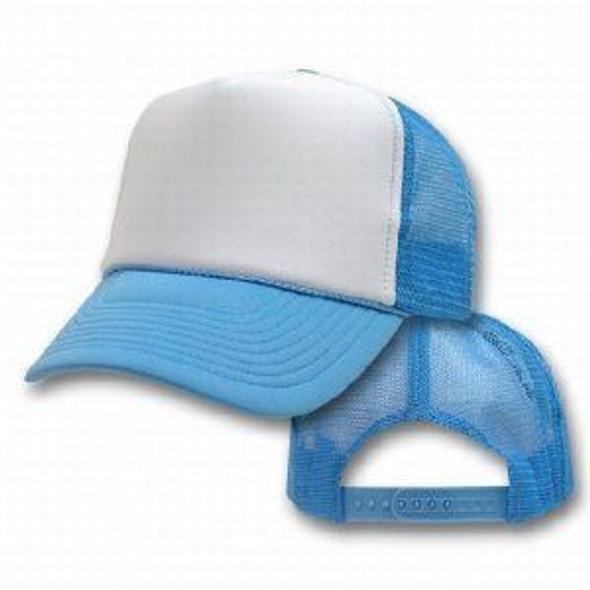 Light Blue Trucker Caps   White Front 12 PACK 1469