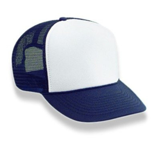 Navy Blue Trucker Caps | White Front 12 PACK 1453