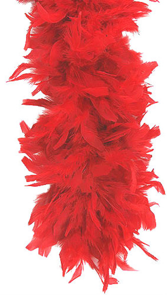 Red Feather Boa 12 PACK 2031