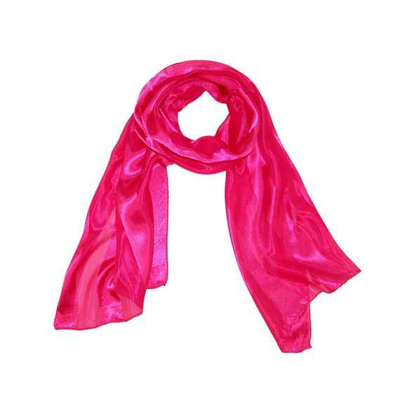 "Hot Pink Long Sheer Chiffon Scarf 21"" x 60"" 2130"