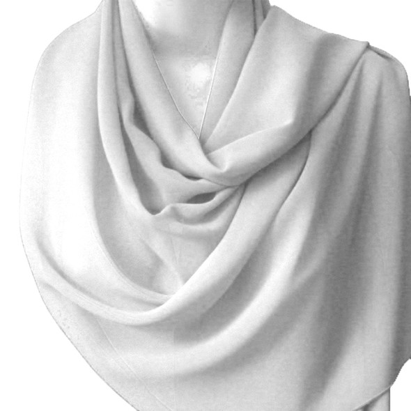 "White Long Sheer Elegant Chiffon Scarf Wrap 21"" x 60"" 2135"