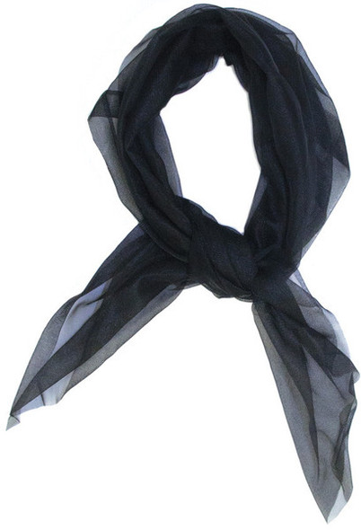 Black Square Chiffon Scarf 50's 12 PACK 24x24 2150
