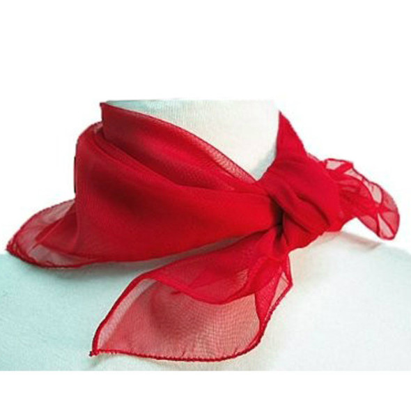 "Red Square Chiffon Scarf 50's 12 PACK 24"" x 24"" 2154"