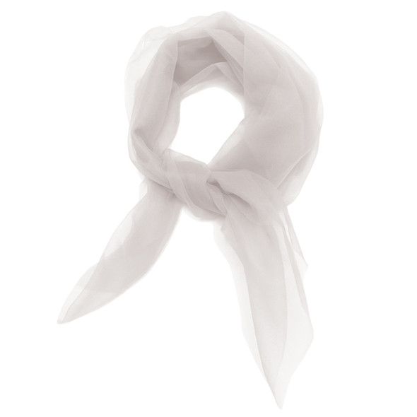 "White Square Short Chiffon Scarf  12 PACK 24"" x 24"" 2155"
