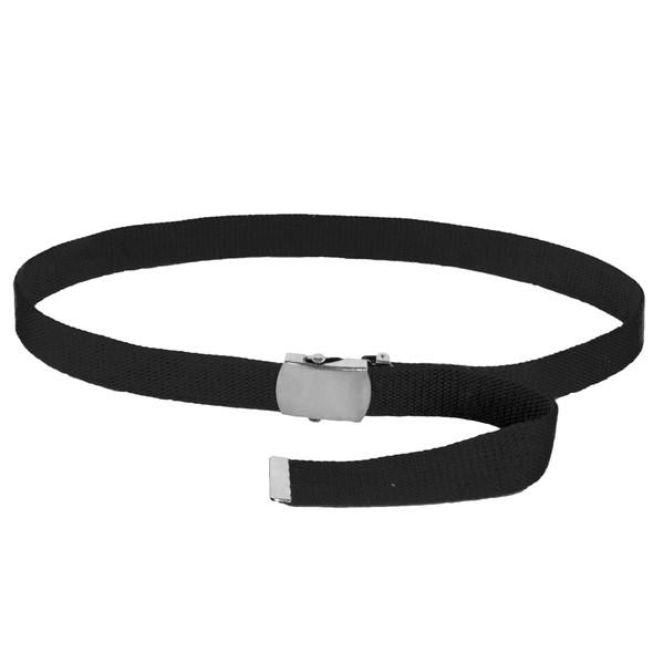 "Mens Canvas Belts | Canvas Web Belt Black | Adjusts to 44-46"" Black 2210"