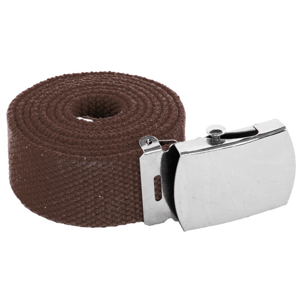 "12 PACK Brown Canvas Adjustable Belt Adjusts to 44-46"" Size 2211"