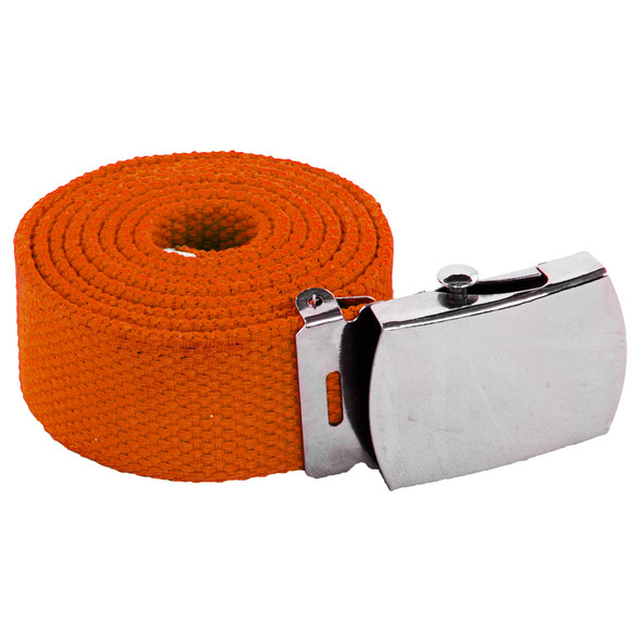 "Orange Canvas Adjustable Belt Adjusts to 44-46"" Size 2218"