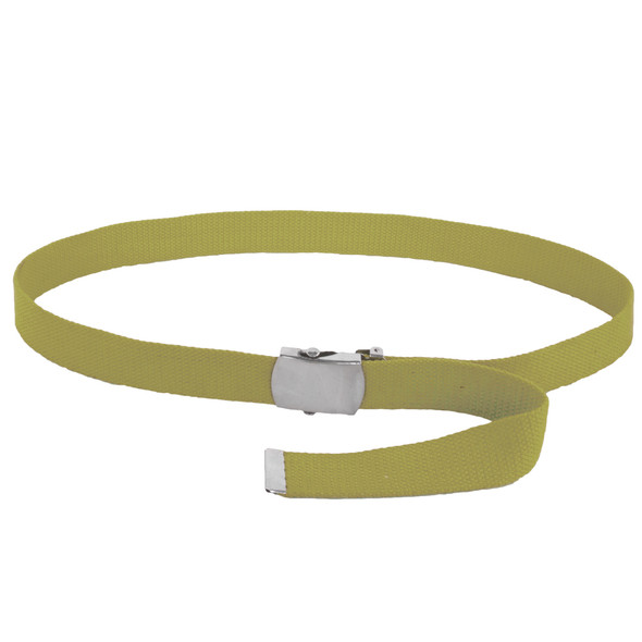 "Tan Canvas Belt Adjustable Military Adjusts to 44-46"" Size 2222"