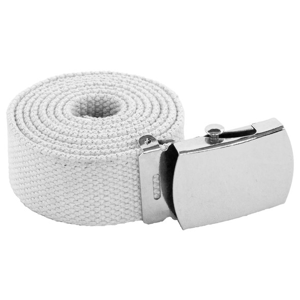 "White Canvas Adjustable Belt Adjusts to 44-46"" Size 2223"