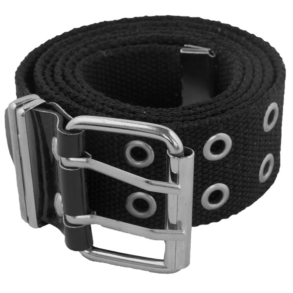 Black Canvas Two Hole Grommet Belts Mix Sizes 2270-A