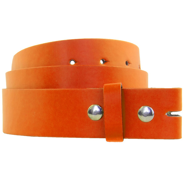 Orange Buckle-less Belts For Buckles Adult 12 PACK Mix Sizes w/FREE BUCKLE 2340A