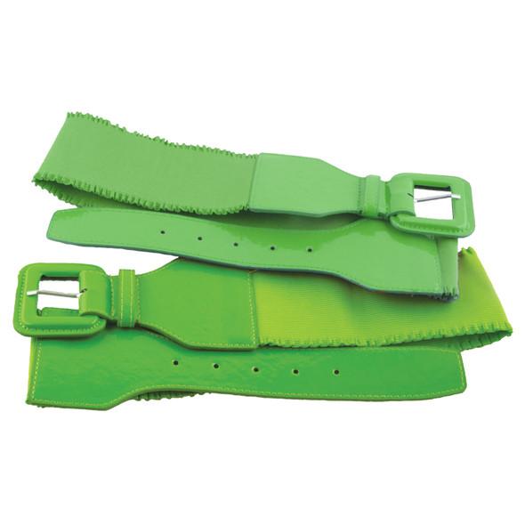 Neon Green 80's Elastic Frill Belt 2409