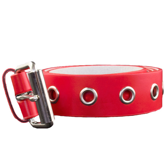 Red One Row Metal Holes Belt 12 PACK 2420 Mixed Sizes