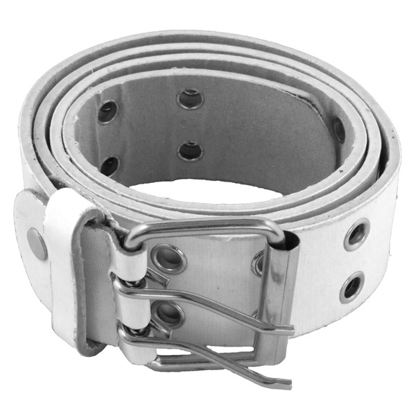 White Punk Two Rows Metal Holes Belt 2452-2455