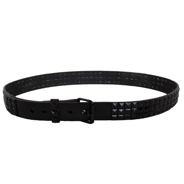 Black Studded Belts Wholesale | Studded Mix Sizes 12 PACK 2484A