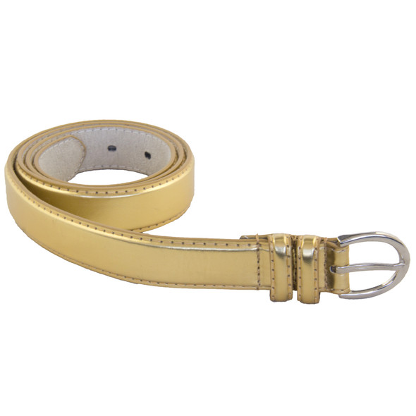 12 PACK Gold 1 Inch Skinny Belts Mix Sizes 2572AG