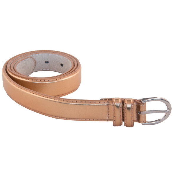 "Skinny Belts 1"" Bronze Mix Sizes 12 PACK 2588AB"
