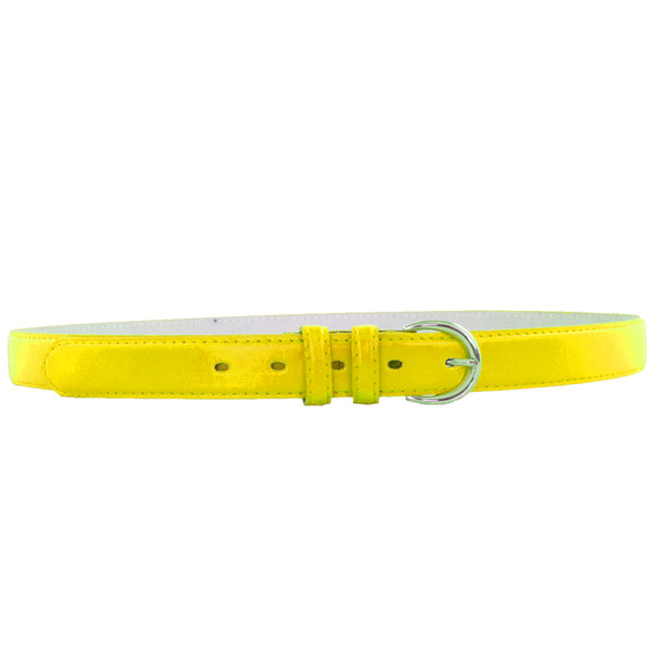 Skinny Belts Yellow 1 Inch Mix Sizes 12 PACK 2596A