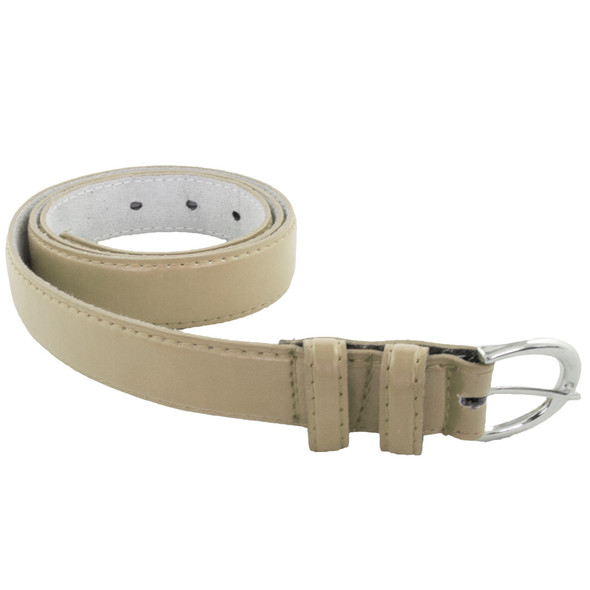 12 PACK Tan 1 Inch Skinny Belts Mix Sizes 2612A