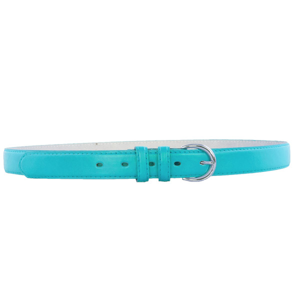 """Skinny Belts 1"""" Turquiose Blue Mix Sizes 12 PACK 2620A"""
