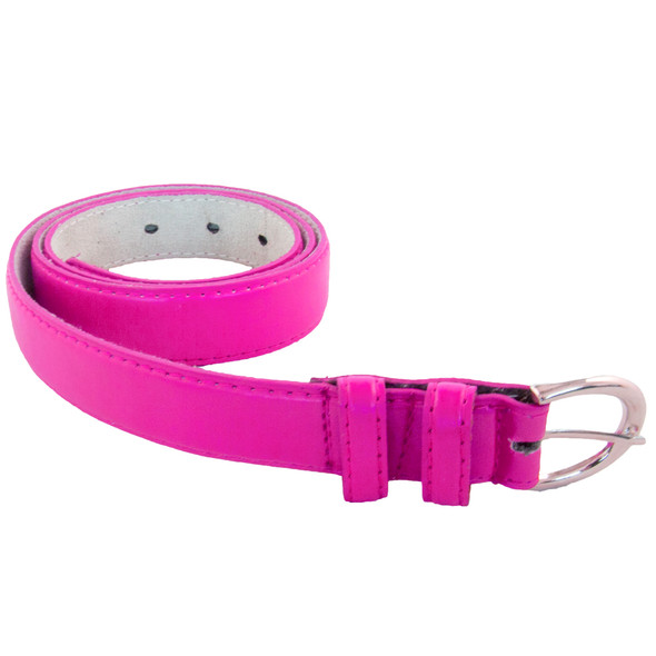 12 PACK Hot Pink 1 Inch Skinny Belts Mix Sizes 2628A