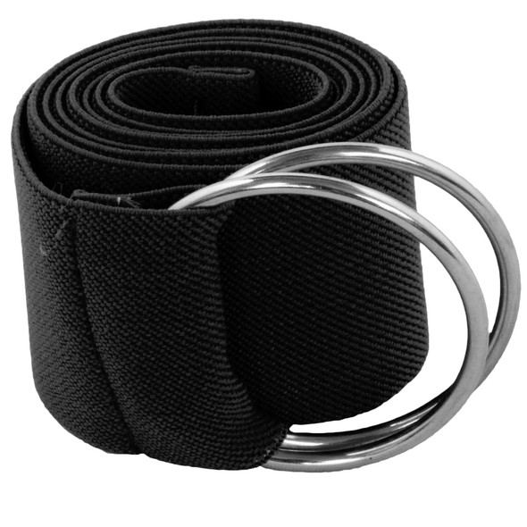 Black Stretch D-Ring Belt 12 PACK 2683