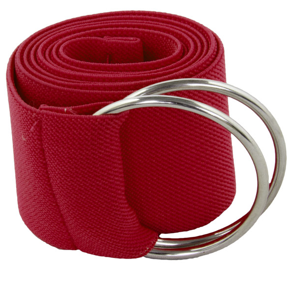 Stretch D-Ring Belt Burgundy 2685