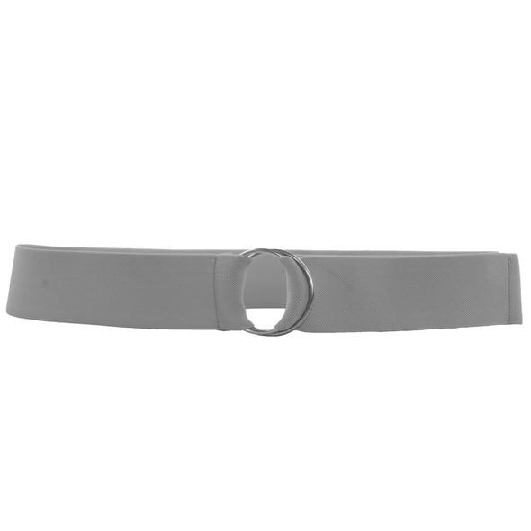 Light Grey Stretch D-Ring Belt 2687