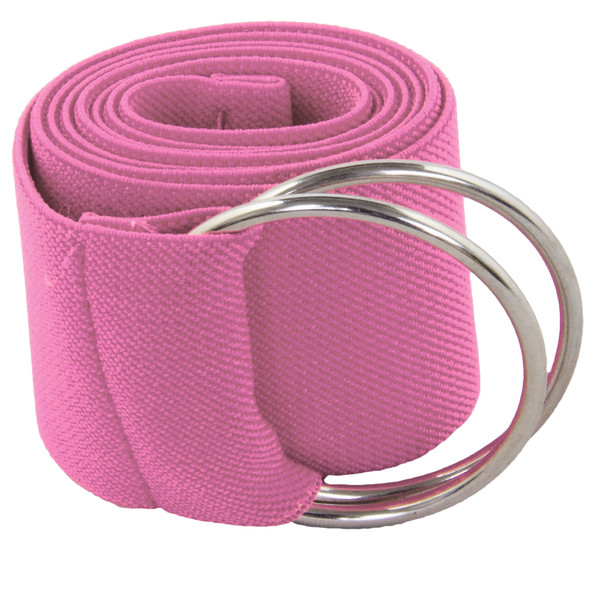 Hot Pink Stretch D-Ring Belt 2689