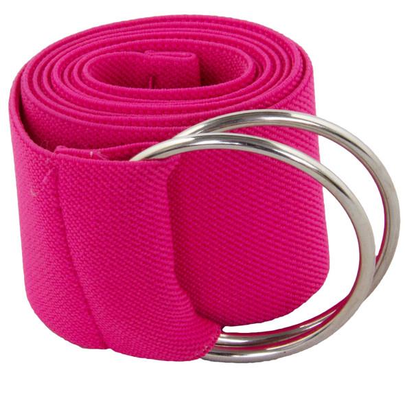 Neon Pink Stretch D-Ring Belt 2690