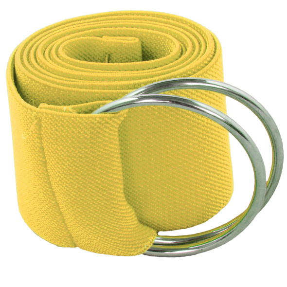 Yellow Stretch D-Ring Belt 2697