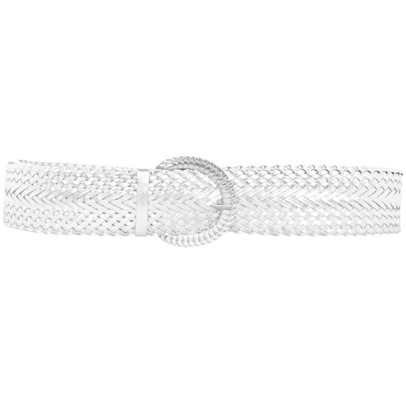 White Diva Wide Braided Belt 2733-2735