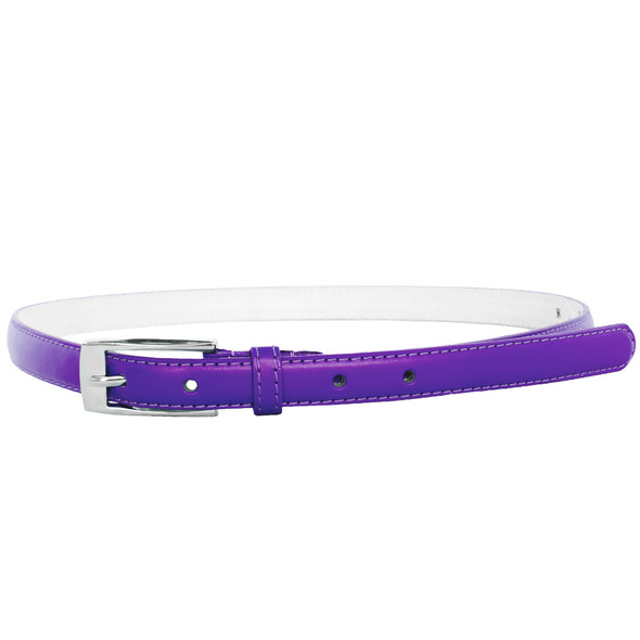 Purple Skinny Belt with Rectangle Buckle 2772-2775