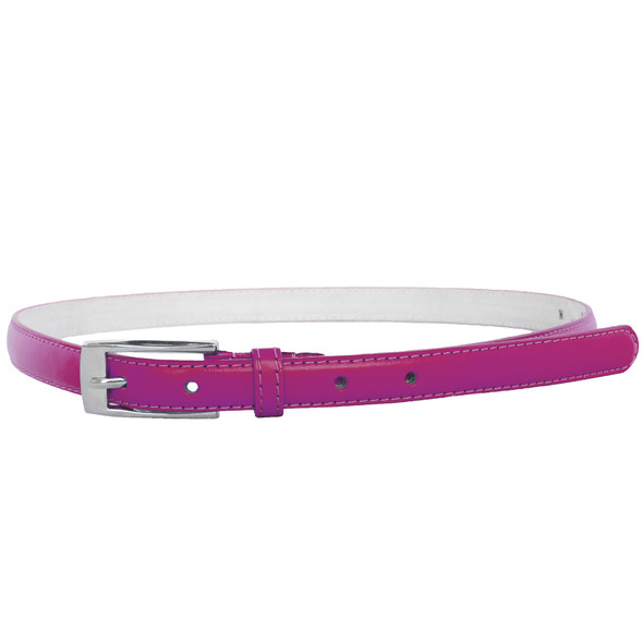 Dark Pink Skinny Belt with Rectangle Buckle 2776-2779