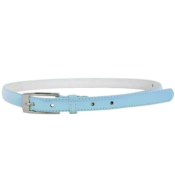 Light Blue Skinny Belt with Rectangle Buckle 2792-2795