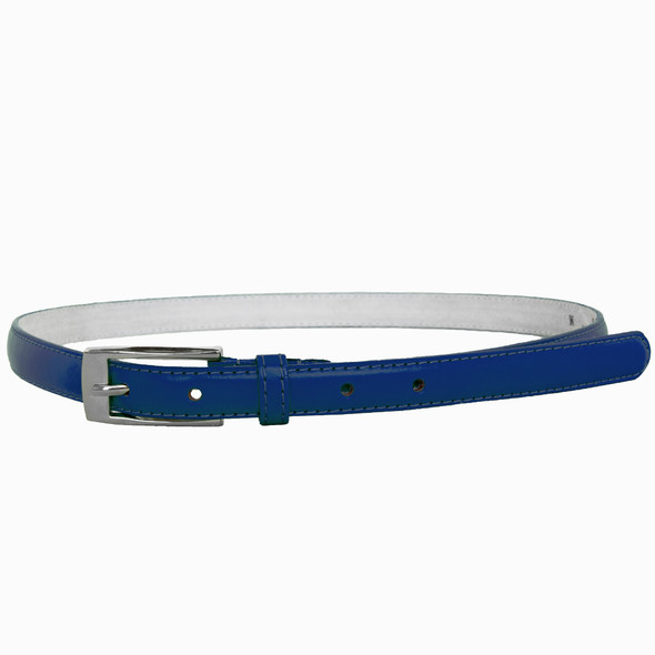 Navy Skinny Belt with Rectangle Buckle 2796-2799